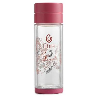 Libre Tea Glass Infuser Garden Dance Pink