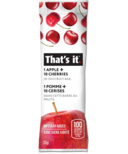 That's it. 1 Apple + 10 Cherries Fruit Bar