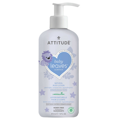 ATTITUDE Baby Leaves Night Body Lotion Almond Milk