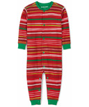 Hatley Little Blue House Baby Union Suit Holiday Stripes
