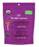 Wedderspoon Organic Manuka Honey Pops Grape
