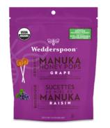 Wedderspoon Organic Manuka Honey Pops Grape