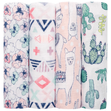 aden + anais Classic Swaddling Wraps Trail Blooms