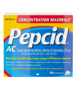 Pepcid AC Maximum Strength Tablets Acid Reducer for Heartburn