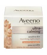 Aveeno Active Naturals Ultra Calming Sensitive Skin Nourishing Night Cream (Crème de nuit nourrissante pour les peaux sensibles)