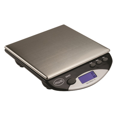 American Weigh Scales AMW-13 Postal and Kitchen Scale Black