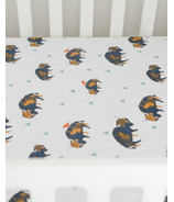 Little Unicorn Percale Crib Sheet Bison