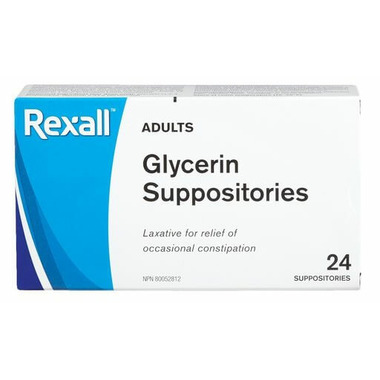 Rexall Adults Glycerin Suppositories