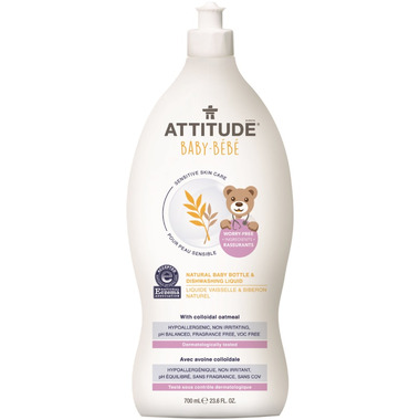 ATTITUDE Natural Baby Bottle & Dishwashing Liquid