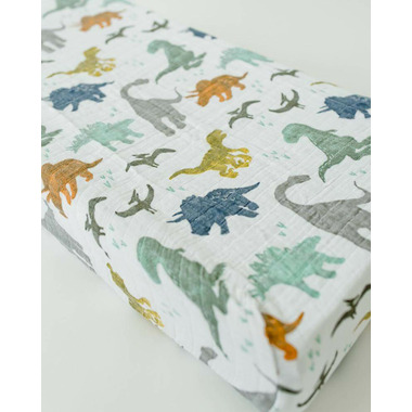 Little Unicorn Cotton Muslin Changing Pad Cover Dino Friends