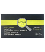 DECODE Bamboo Charcoal Bar Soap Citrus Vetiver
