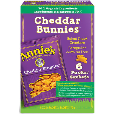 Annie\'s Homegrown Cheddar Bunnies Packets