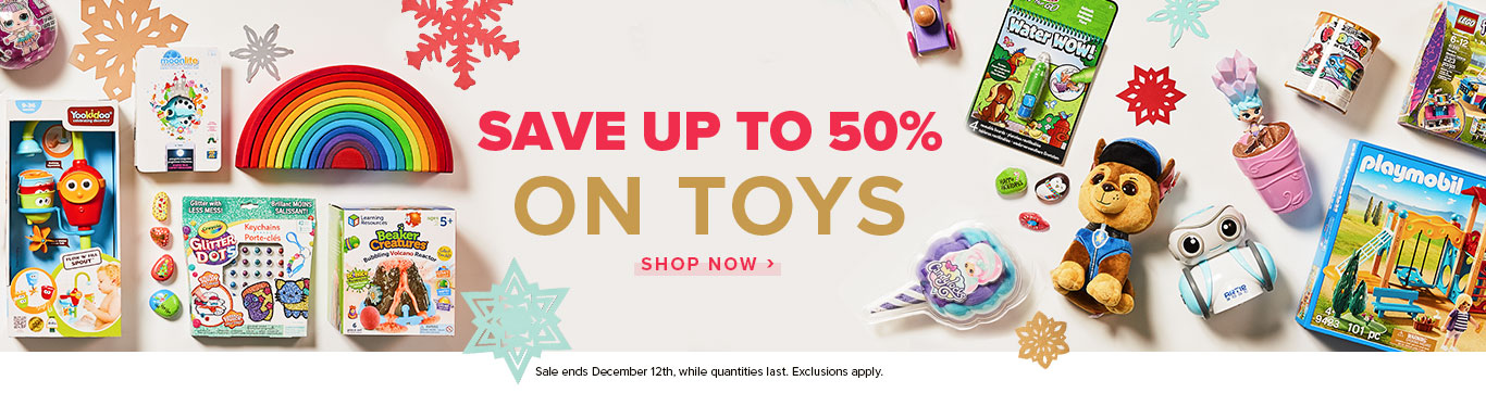 Save up to 50% on Toys