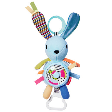 Skip Hop Vibrant Village Pull and Spin Activity Bunny
