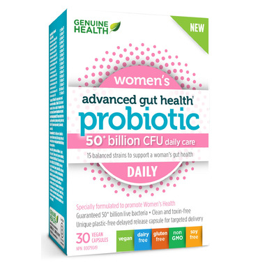 Genuine Health Advanced Gut Health Probiotic Womens Daily 50 Billion CFU