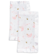 Lulujo Security Blankets Muslin Cotton Swan