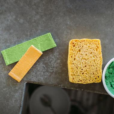 Kliin Biodegradable Compressed Large Sponge Green
