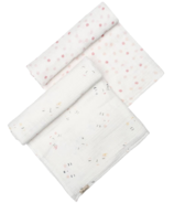 Pehr Designs Petit Pehr Peek-A-Boo Sleepy & Hatched Dots Girl Swaddle Set