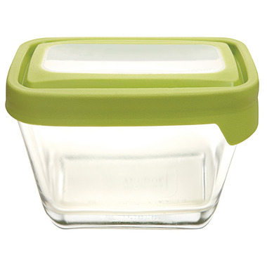 Anchor TrueSeal 1 7/8 Cup Rectangular Storage Container with Green Lid
