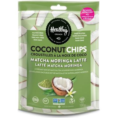 Healthy Crunch Matcha Moringa Latte Coconut Chips