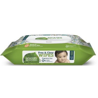 Seventh Generation Baby Free & Clear Unscented Wipes