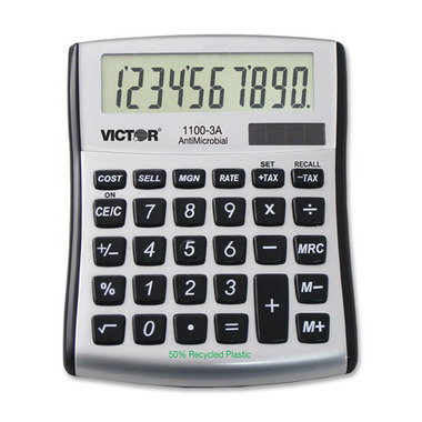 Victor AntiMicrobial Mini Desktop Calculator