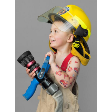 PiCO Temporary Tattoos Max the Firefighter