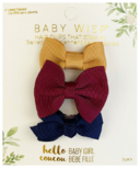 Baby Wisp Mini Latch Bows Vintage Gold & Burgndy & Navy