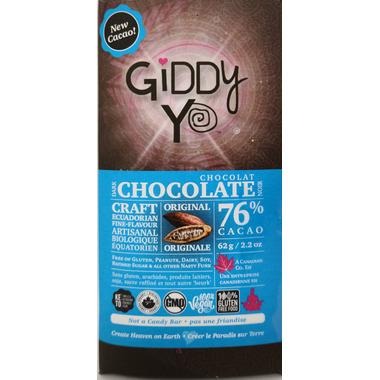 Giddy Yoyo Organic Chocolate Bar Original