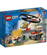 LEGO City Fire Helicopter Response Building Set