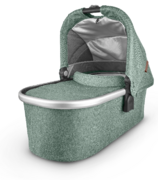 UPPAbaby V2 Bassinet Emmett Green Melange Silver Saddle Leather