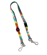 Happy Adjustable Lanyard With Breakaway Tie Dye