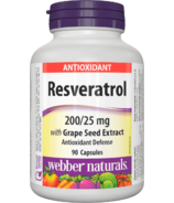 Webber Naturals Resveratrol with Grape Seed Extract 200/25 mg