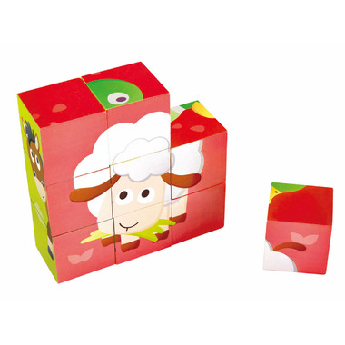 Hape Toys Farm Animal Block Puzzle