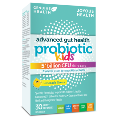 Genuine Health Advanced Gut Health Probiotic for Kids Lemonade
