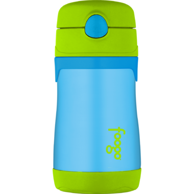 Thermos Stainless Steel Straw Bottle Green and Blue