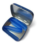 Silikids Large Tin Single Reusable Straw Cobalt