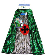 Great Pretenders Reversible Dragon Knight Cape Green and Silver