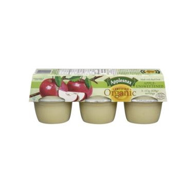 Applesnax Organic Unsweetened Applesauce Cups
