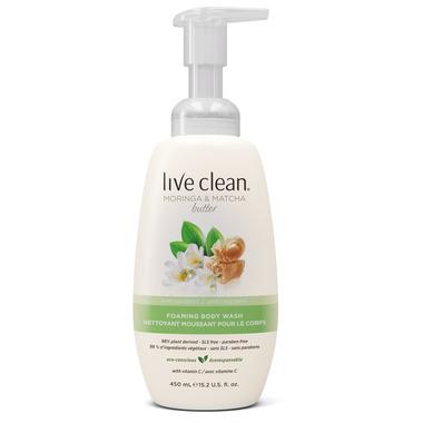Live Clean Moringa & Matcha Butter Antioxidant Foaming Body Wash