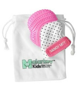 Malarkey Kids Munch Mitt Teething Mitten Pink Shimmer Polka Dots