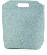Minimal Eco-Felt Lunch Bag Large Light Grey