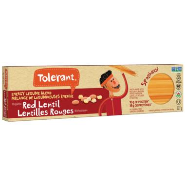 Tolerant Organic Red Lentil Spaghetti Pasta