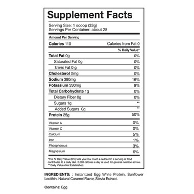 Gaspari Nutrition Proven Egg 100% Egg White Protein Salted Caramel