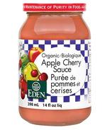 Sauce aux pommes et aux cerises biologique d'Eden Foods