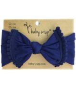 Baby Wisp Pom Pom Trim Headband Navy