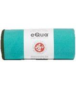 Manduka eQua Yoga Mat Towel Tasmanian Blue