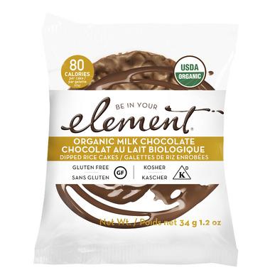 Element Snacks Organic Milk Chocolate Dipped Rice Cakes