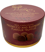 Walker's Chocolates Raspberry Prosecco Truffles Hat Box
