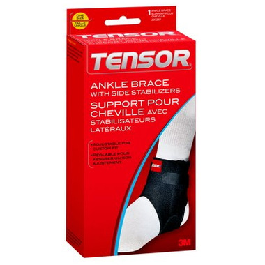 Tensor Ankle Brace with Side Stabilizers